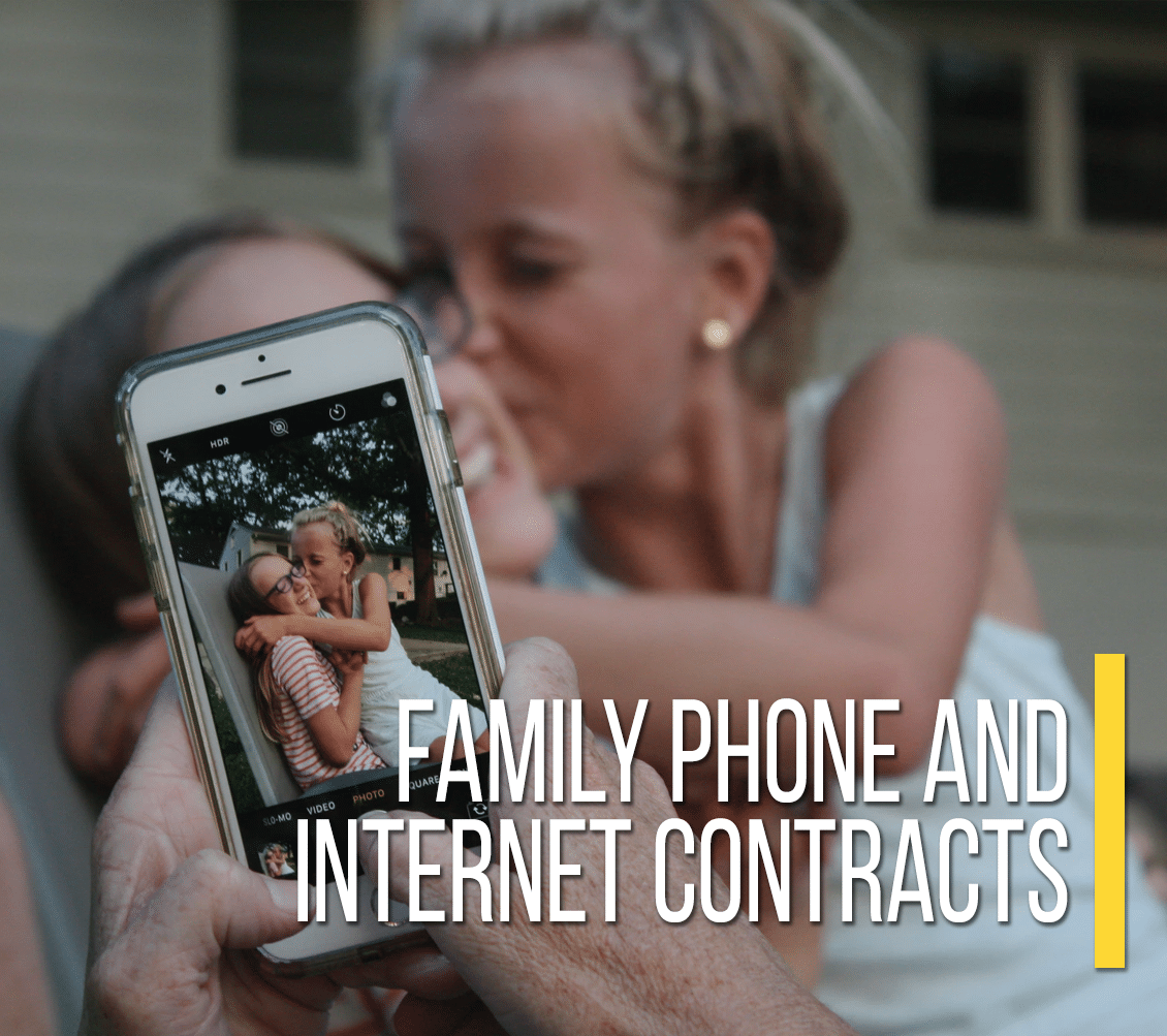 Family Phone And Internet Contracts