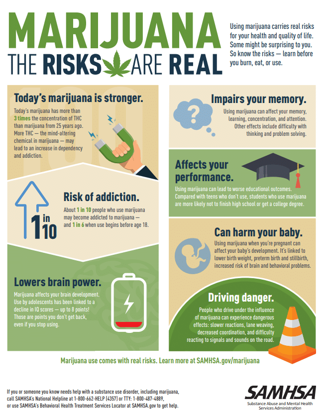 Image result for marijuana the risks are real